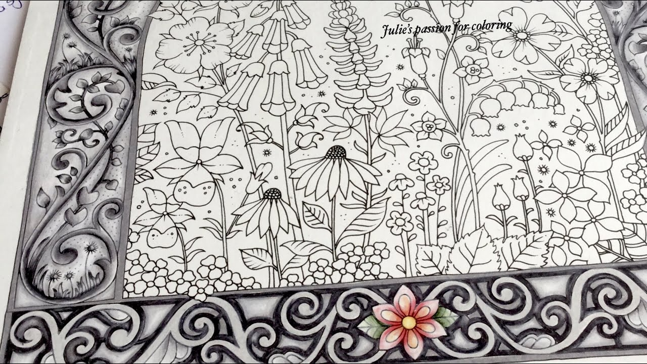 - WORLD OF FLOWERS By Johanna Basford - PART 1 - Color Along - YouTube