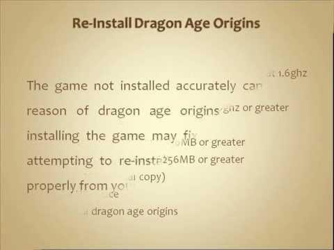 Dragon Age Origins Crashing