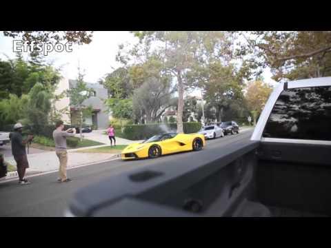 سائق لافيراري قطرية يقودها وكأنها سيارة رخيصة مستأجرة