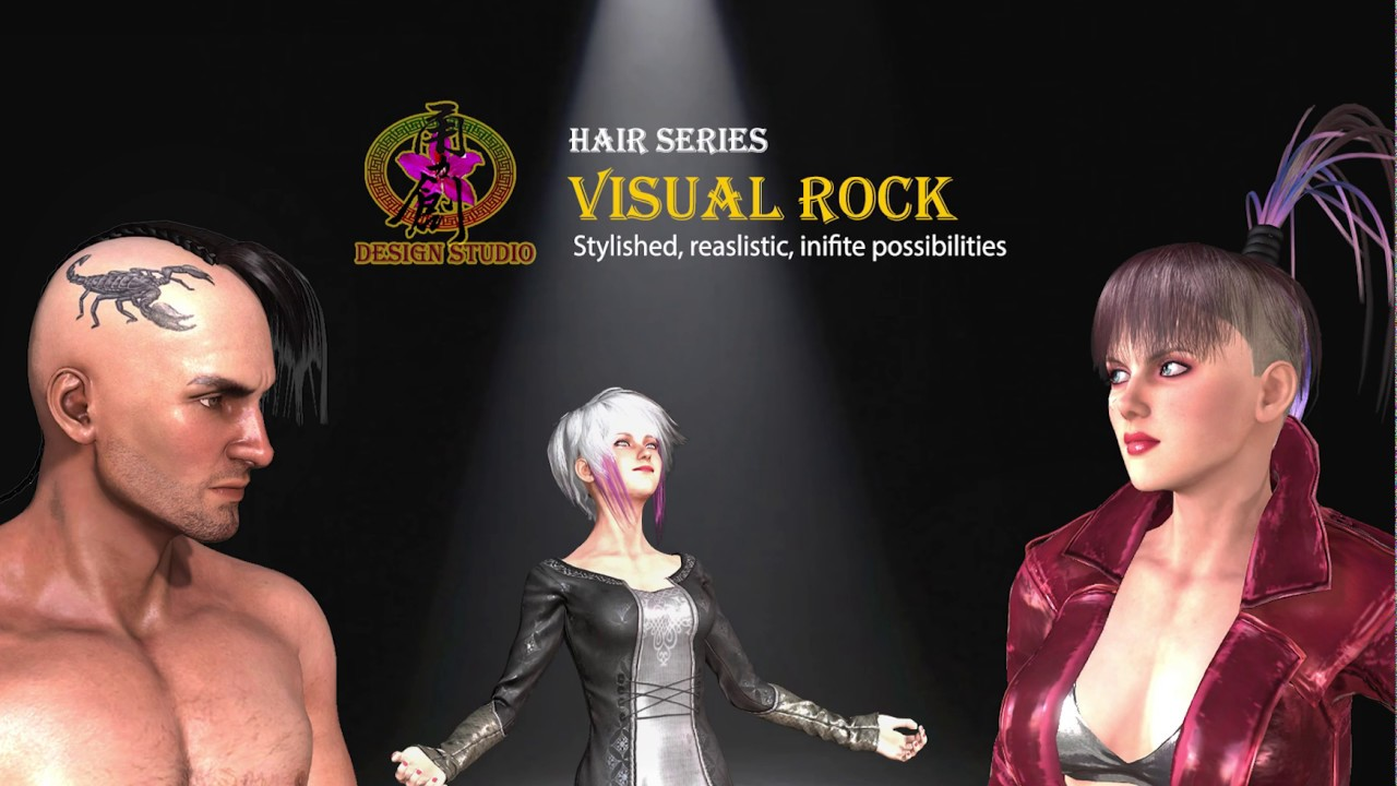 Character Creator Pack - Visual Rock Hair