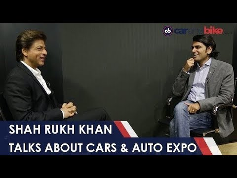 Shah Rukh Khan Talks About His Cars, Kids & Upcoming Movies | #AutoExpo2018