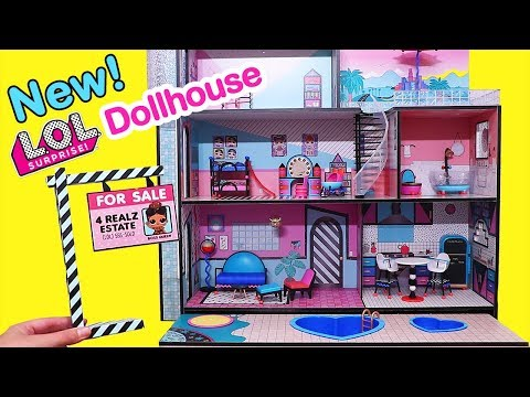 NEW Dollhouse w/ Swimming Pool for LOL Families ! Toys and Dolls Fun for Kids | SWTAD