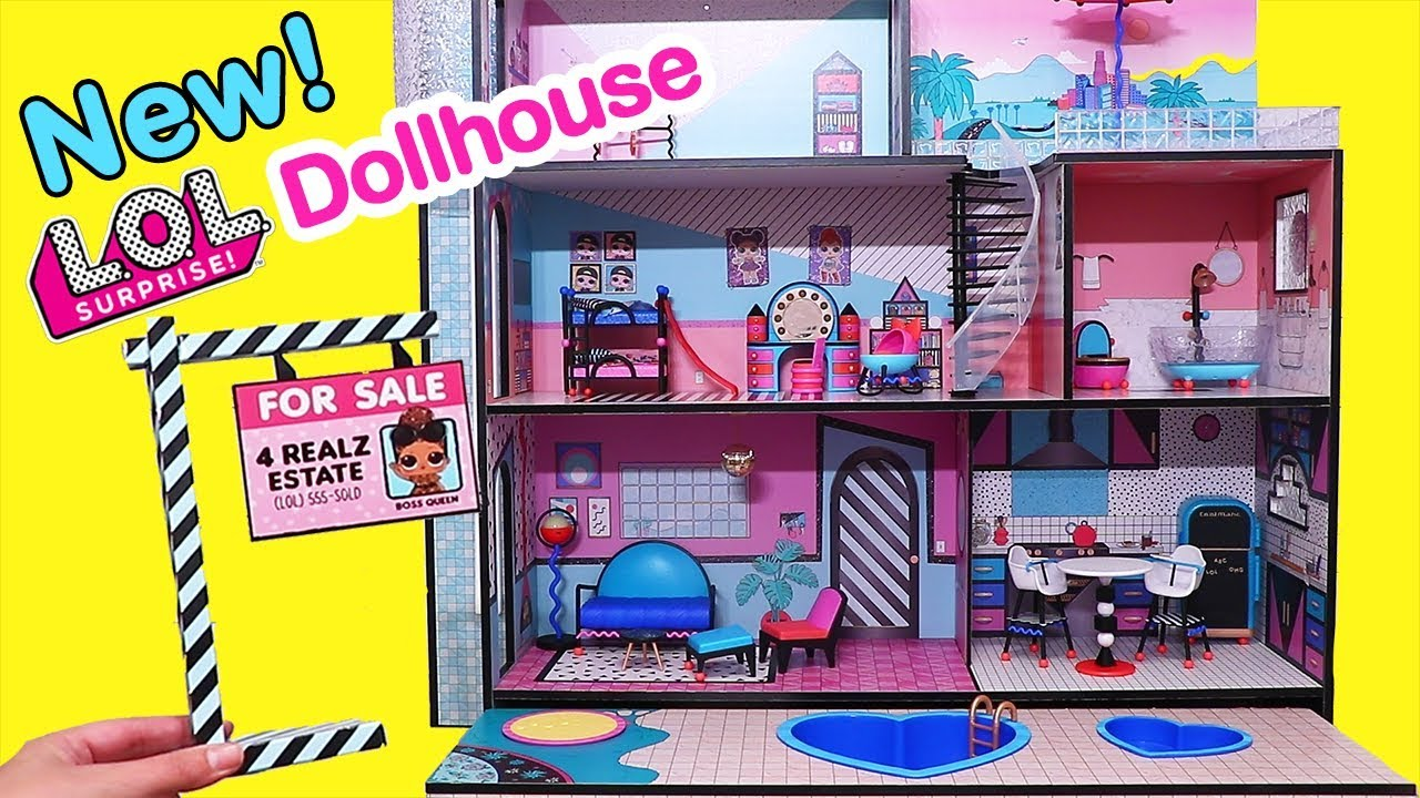 New Dollhouse W Swimming Pool For Lol Families Toys And Dolls Fun