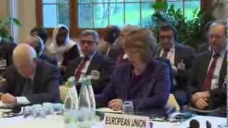 Catherine Ashton at the Geneva II Middle East Peace Conference on Syria, Montreux