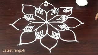 beautiful & smart freehand kolam - latest rangoli - new muggulu designs