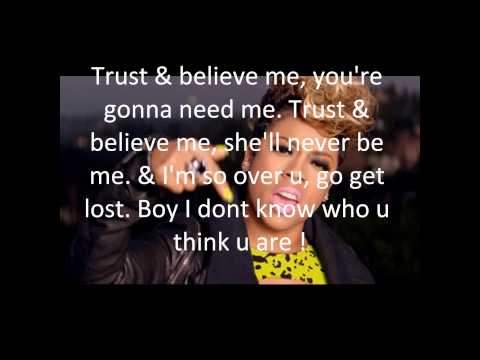 Keyshia Cole- Trust & Believe (lyrics on screen)
