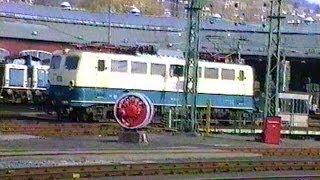Deutsche Bundesbahn 1991 -  Alltag in Siegen mit BR 110
