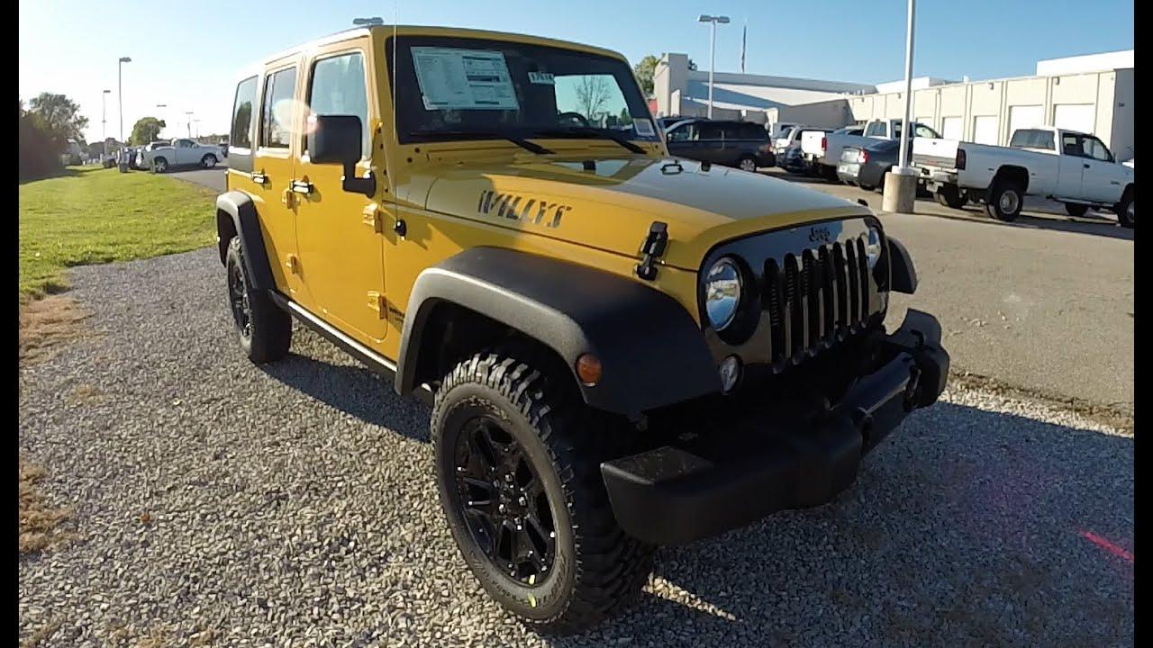 2015 Jeep Wrangler Unlimited Willys Wheeler Baja Yellow New