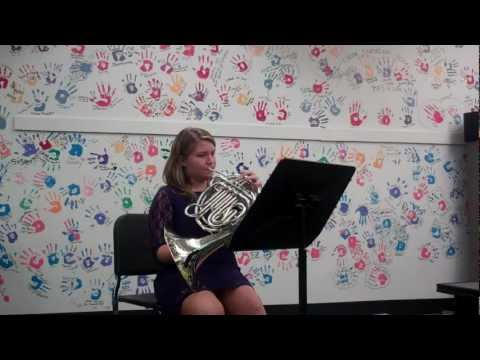 Ruthie Carter's Concordia Nebraska Musical Arts Day Horn Audition 2012