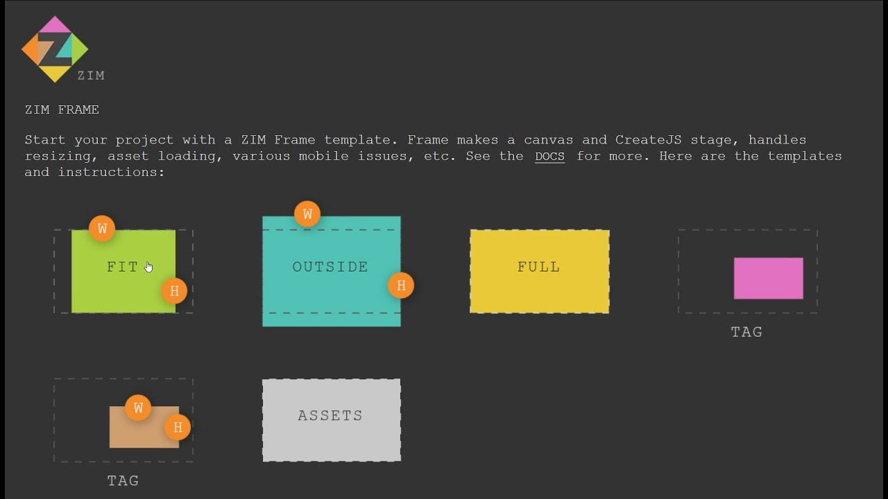 ZIM Capture 04 - FRAME (Template) - Coding the HTML Canvas with ZIM ...