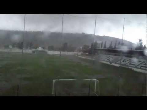 Indrukwekkende tornado in Portugal