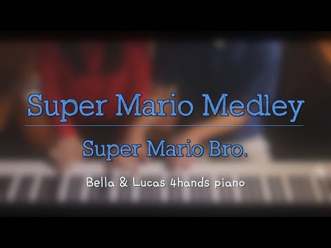 [Super Mario] Medley 4hands piano cover