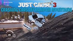 Just Cause 3 crashing cars off random mountains