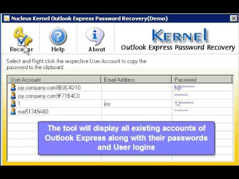 Free Outlook Express Password Recovery - Recover OE Account Passwords