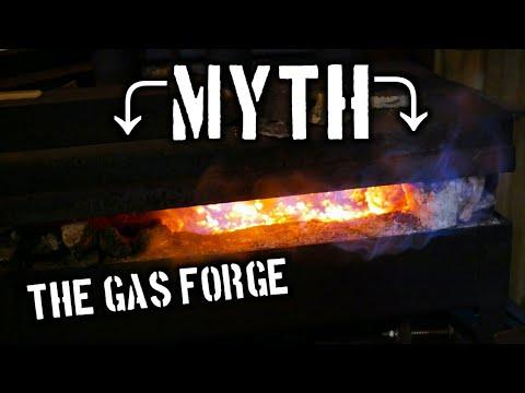 MYTH? Can a gas forge burn steel?