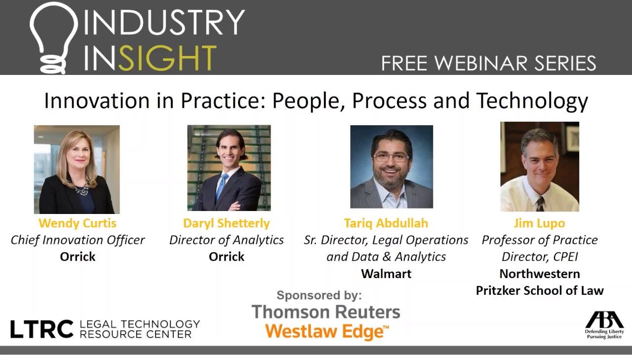 Watch: Innovation in Practice: People, Process and Technology - Law