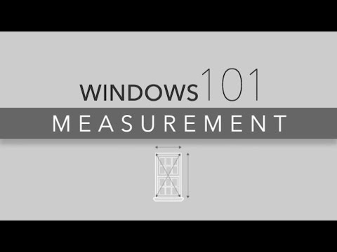 ReliaBilt Windows 101 Measuring for Replacement Windows
