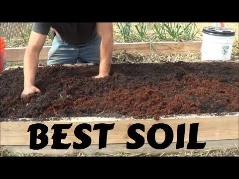 Best Soil For Rasied Garden Bed Youtube