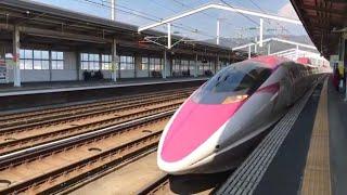 ハローキティ新幹線 こだま741号 新山口到着