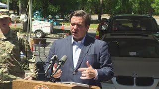 VIDEO: FL Governor Ron DeSantis to hold press conference at Escambia County testing site