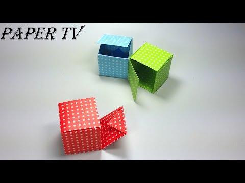 [Paper TV] Origami Gift Box 선물상자 종이접기 折り