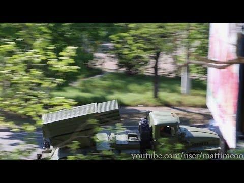 May 2 2014 Russian Military Convoy (SAMs, Iskander Missiles, APCs) Sevastopol Crimea Ukraine/Russia