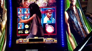 The Walking Dead 2 Slot Machine Bonus Win ★Michonne Attack and Symbols WIN★Live Play Max Bet