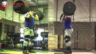 Dmitry Klokov - 184kg/405lb Power Clean + Push Press