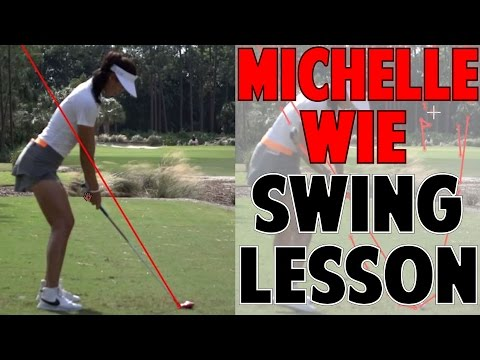 MICHELLE WIE SWING LESSON | How to Stay on In Your Posture & On Plane