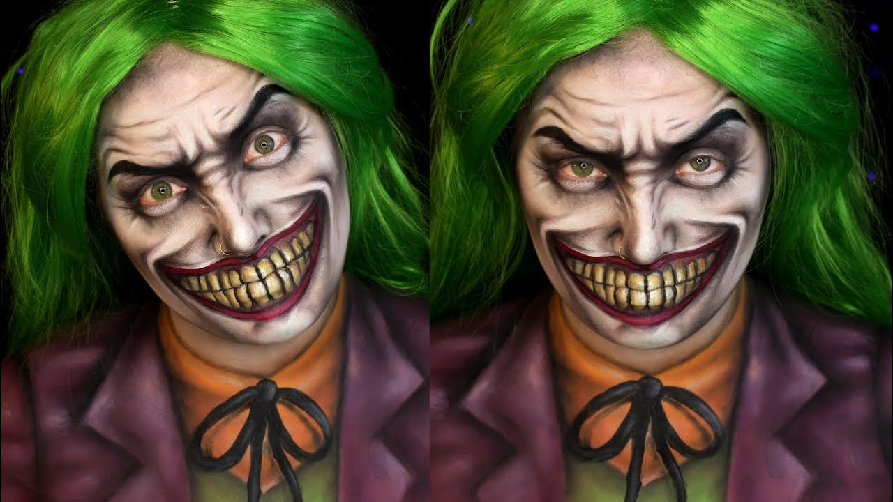 joker dc comics halloween makeup tutorial jordan hanz