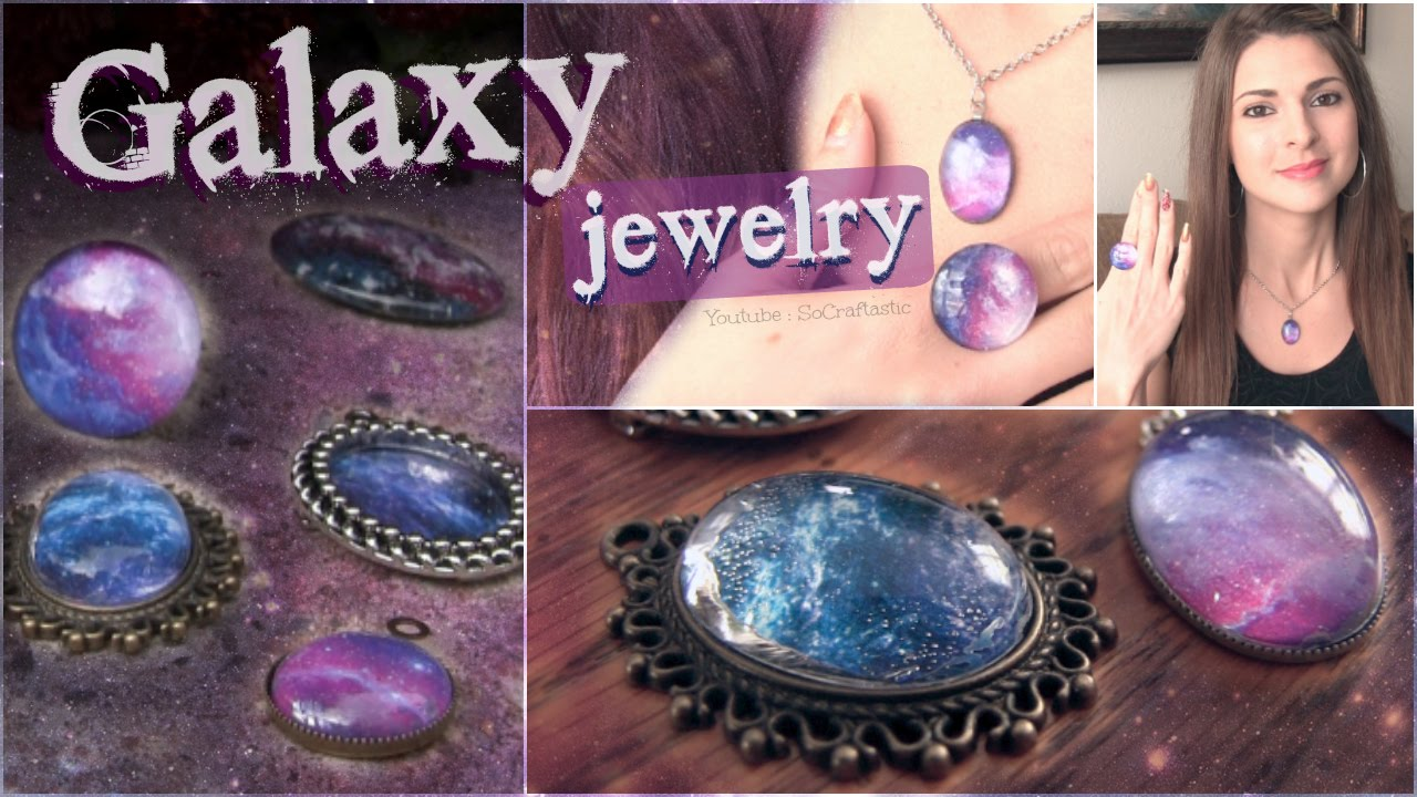 Diy Galaxy Necklace Amp Ring Pendants Socraftastic Youtube