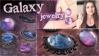 DIY Galaxy Necklace & Ring Pendants // Nail Polish Jewelry How To
