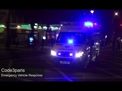 St John Ambulance CATS -- [Two-Tone Air Horns + Siren]