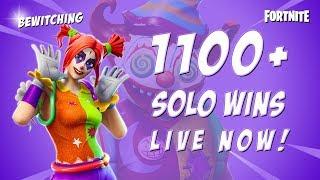 Fortnite - 1100+ SOLO WINS! GOOD CONSOLE PLAYER. End of Season 5! Solos & Random Duos
