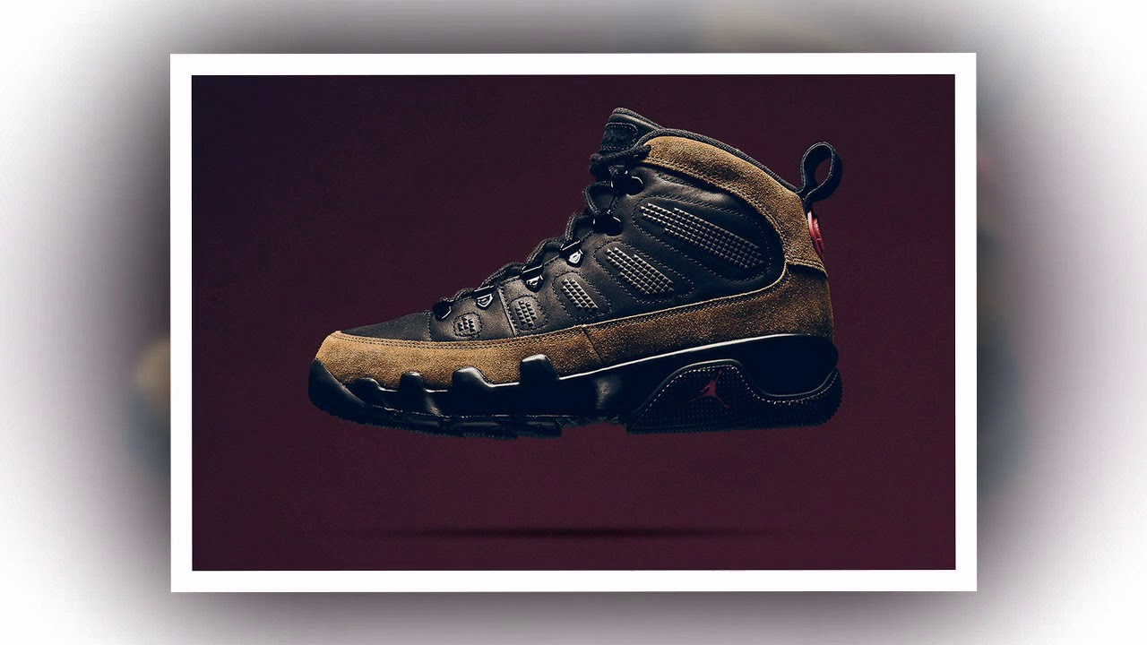 3461abecd207 A Closer Look at the Air Jordan 9 Boot NRG  Olive  - YouTube