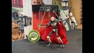 Star Wars The Black Series General Grievous Deluxe 6 Inch Action Figure Review