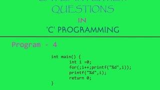 Program-4 | GATE/Interview Question in 'C' Programming