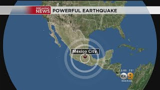 M7.1 Quake Rocks Mexico City On Anniversary Of 1985 Earthquake by : CBS Los Angeles