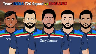 Team INDIA T20 Squad vs ENGLAND | Laughter life with azgar