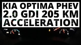 Kia Optima PHEV 2.0 GDI 205 KM (AT) - acceleration 0-100 km/h