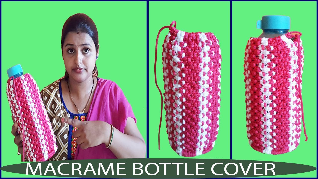 Macrame Book Cover Tutorial : How to make macrame bottle cover simple easy video