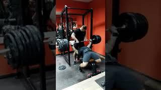 Мой онлайн-клиент Дмитрий Ли . Жим лежа без экипировки 250 кг, вес 106