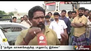Drivers suffer as more than 100 lorries stopped in   TN-Karnataka border