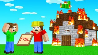 Jelly FAILED My TROLL FIRE SAFETY TEST! (Minecraft)