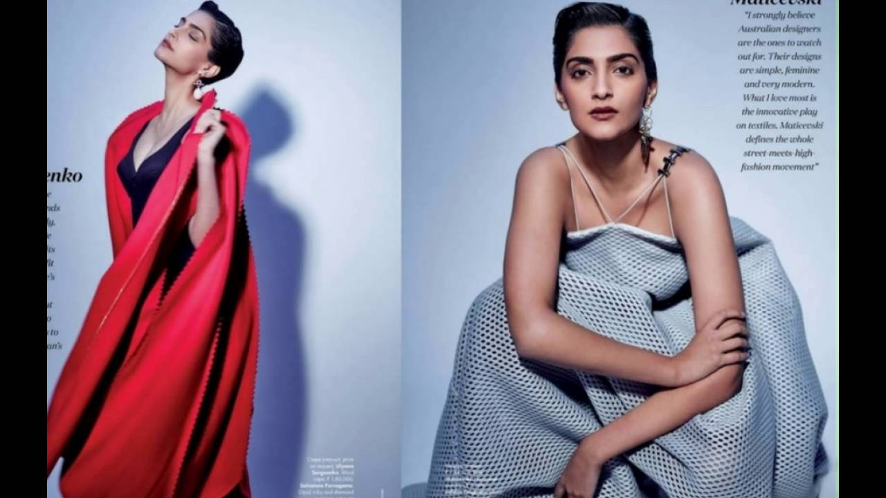 sonam kapoor stylish photoshoot for elle india magazine 2016 - youtube
