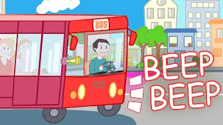 WHEELS ON THE BUS Nursery Rhyme with Lyrics