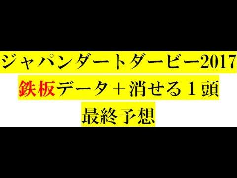 ジャパンダートダービー2017【最終予想】鉄板データ+消せる1頭