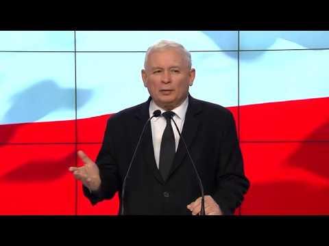 Jarosław Kaczyński – Breifing prasowy Prezesa PiS