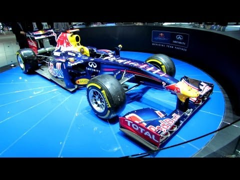 2011 Red Bull F1 Race Car at Infiniti Stand - 2012 Los Angeles Auto Show