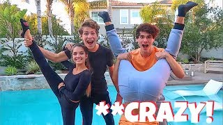COUPLE VS. TWIN YOGA CHALLENGE!!